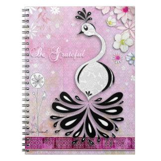 Be Greatful Inspirational Bird Notebook