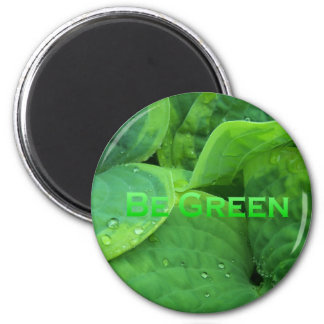Be Green 1 Fridge Magnets