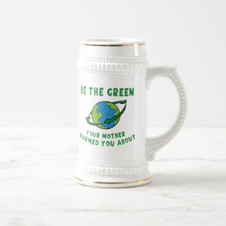 Be Green Beer Stein