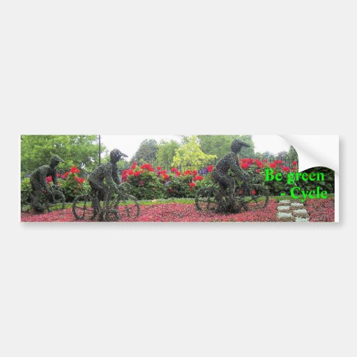 Be green, - Cycle Car Bumper Sticker
