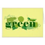 Be Green Greeting Card