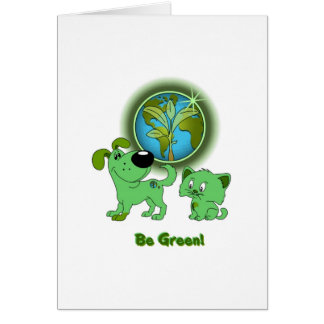 Be Green! (Leaf and Blade) Greeting Card