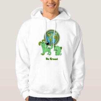 Be Green! (Leaf and Blade) Hoodie