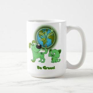 Be Green! (Leaf and Blade) Classic White Coffee Mug
