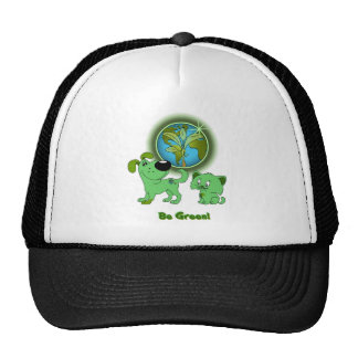 Be Green! (Leaf and Blade) Trucker Hat