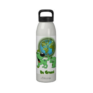 Be Green! (Leaf and Blade) Water Bottle