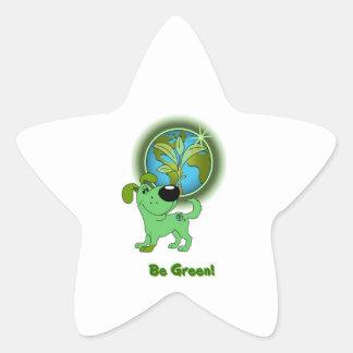 Be Green! - Leaf Star Sticker