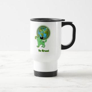 Be Green! - Leaf Travel Mug