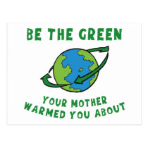Be Green Postcard