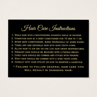 BE-Hair-Care-Instructions Business Card