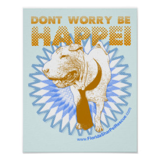 "Be Happei 14"" x 11"" Poster"