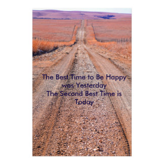 Be Happier poster Photo Print