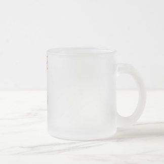 Be happy! 10 oz frosted glass coffee mug