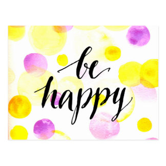 Be Happy 2 Postcard
