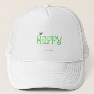 Be Happy - A Positive Word - Apparel (Green) Trucker Hat