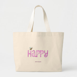 Be Happy - A Positive Word Large Tote Bag