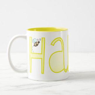 Be Happy - A Positive Word Two-Tone Coffee Mug