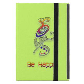 Be Happy Alien, Abstract iPad Mini Cases