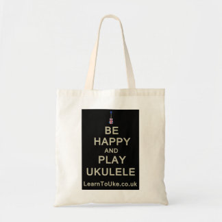 Be Happy and Play Ukulele Budget Tote Bag