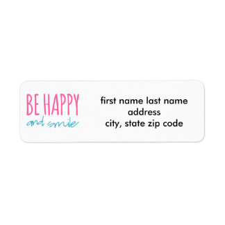 Be Happy And Smile Label