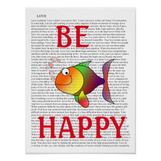 BE HAPPY -- Art Print