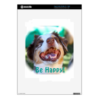 Be Happy!   Australian Shepherd iPad 2 Decal