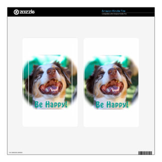 Be Happy!   Australian Shepherd Kindle Fire Decal