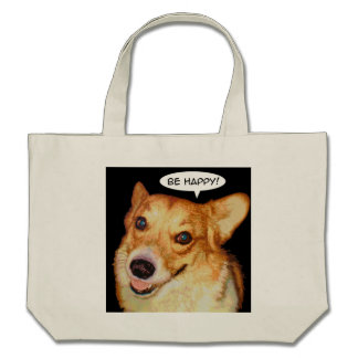 Be Happy Canvas Bags