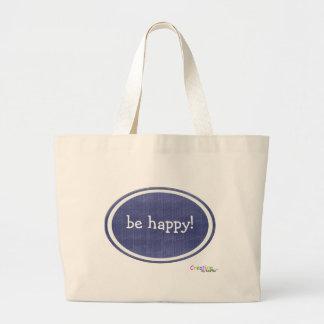 """be happy"" beach bag"