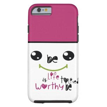 Be Happy black & pink monogram iphone 6/6s case