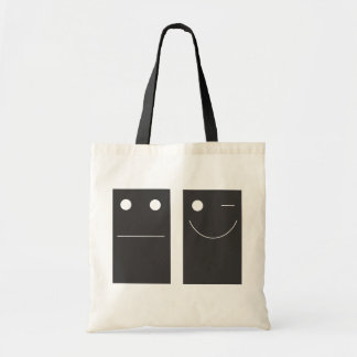 be happy! budget tote bag