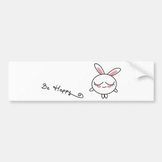 Be Happy Bunny Bumper Sticker