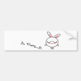 Be Happy Bunny Bumper Stickers