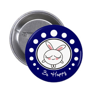 Be Happy Bunny Button