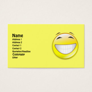 Be Happy Business Card