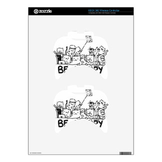 Be Happy Cats Doodle Xbox 360 Controller Skins