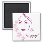 Be Happy Customized Magnet