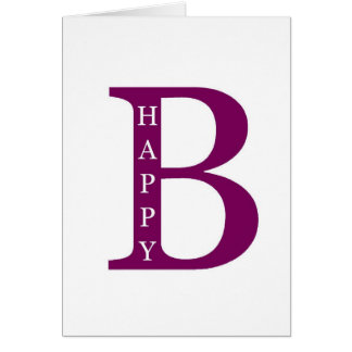 Be Happy (deep purple) Card