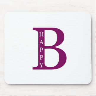 Be Happy (deep purple) Mouse Pads