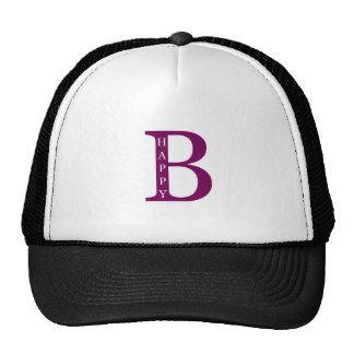 Be Happy (deep purple) Trucker Hat