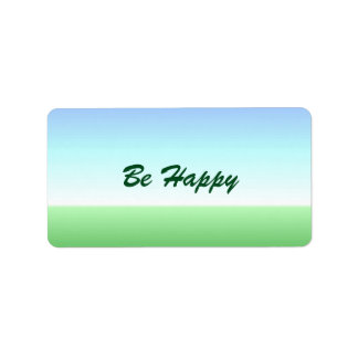 Be Happy Green Blue Label