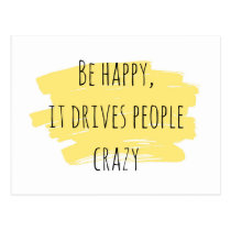 Be Happy inspiration card