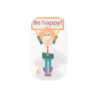 Be happy! minx nail art