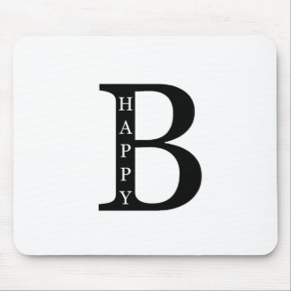 Be Happy (on the inside...black) Mouse Pads