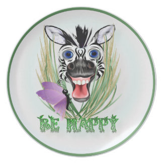 Be Happy Pillows Dinner Plate