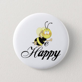 Be Happy Pinback Button