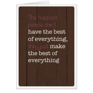 Be happy positive motivation card