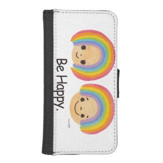 Be Happy Rainbow iPhone SE/5/5s Wallet Case