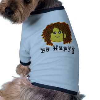 Be Happy Rasta Mon Smiley Dreadlocks Dog Tshirt