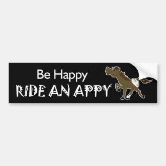 Be Happy Ride An Appy Appaloosa (Black) Sticker